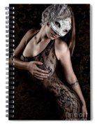 Mask And Lace Spiral Notebook