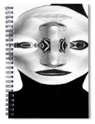 Mask Black And White Spiral Notebook