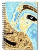 Masked- Man Abstract Spiral Notebook