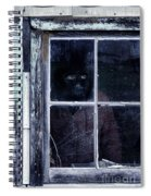 Masked Man Looking Out Window Spiral Notebook