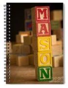 Mason - Alphabet Blocks Spiral Notebook