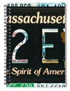 Massachusetts License Plate Spiral Notebook