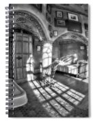 Master Bedroom At Fonthill Castlebw Spiral Notebook