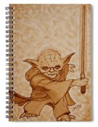 Master Yoda Jedi Fight Beer Painting Spiral Notebook