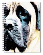 Mastif Dog Art - Misunderstood Spiral Notebook