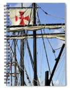 Masts And Rigging On A Replica Of The Christopher Columbus Ship  Spiral Notebook
