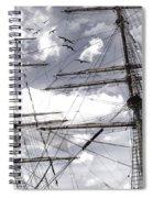 Masts Of Sailing Ships Spiral Notebook