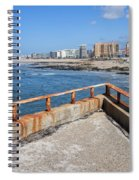 Matosinhos City Skyline In Portugal Spiral Notebook