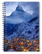 Matterhorn At Twilight Spiral Notebook