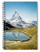 Matterhorn Cervin Reflection Spiral Notebook