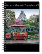 Matterhorn Mountain Disneyland Collage Spiral Notebook