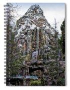 Matterhorn Mountain With Bobsleds At Disneyland Spiral Notebook