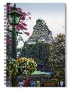 Matterhorn Mountain With Flowers At Disneyland Spiral Notebook