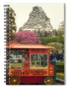 Matterhorn Mountain With Hot Popcorn At Disneyland 01 Spiral Notebook