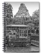 Matterhorn Mountain With Hot Popcorn At Disneyland Bw Spiral Notebook