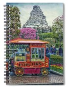 Matterhorn Mountain With Hot Popcorn At Disneyland Textured Sky Spiral Notebook