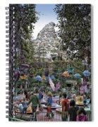 Matterhorn Mountain With Tea Cups At Disneyland Spiral Notebook