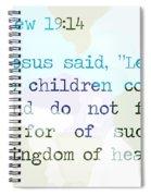 Matthew 19 Spiral Notebook