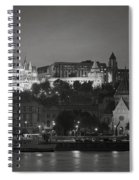Matthias Church Night Bw Spiral Notebook