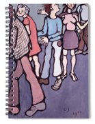 Maudsley Hospital Inmates, 1974 Oil On Canvas Spiral Notebook