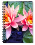 Maui Lotus Blossoms Spiral Notebook