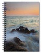 Maui Tidal Swirl Spiral Notebook