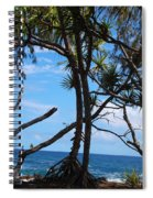 Maui Tree Silhouette Spiral Notebook
