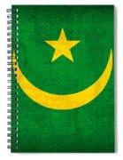 Mauritania Flag Vintage Distressed Finish Spiral Notebook