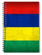 Mauritius Flag Vintage Distressed Finish Spiral Notebook