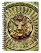 Mausoleum Lion Spiral Notebook