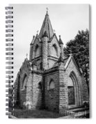 Mausoleum New England Black And White Spiral Notebook