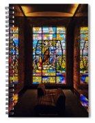 Mausoleum Stained Glass 01 Spiral Notebook