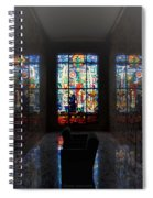 Mausoleum Stained Glass 07 Spiral Notebook