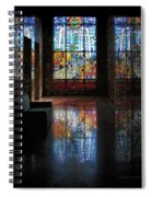 Mausoleum Stained Glass 08 Spiral Notebook