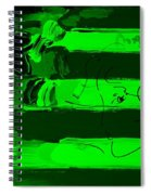 Max Stars And Stripes In Green Spiral Notebook