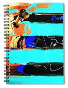 Max Stars And Stripes In Inverted Colors Spiral Notebook