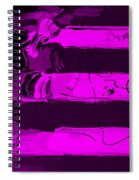 Max Stars And Stripes In Purple Spiral Notebook