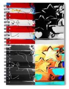 Max Stars And Stripes In Quad Colors Spiral Notebook