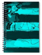 Max Stars And Stripes In Turquois Spiral Notebook