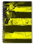 Max Stars And Stripes In Yellow Spiral Notebook