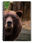 Max The Brown Bear Spiral Notebook