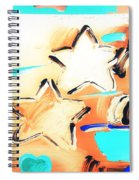 Max Two Stars In Inverted Colors Spiral Notebook