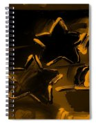 Max Two Stars In Orange Spiral Notebook