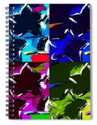 Max Two Stars In Pf Quad Colors Spiral Notebook
