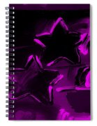 Max Two Stars In Purple Spiral Notebook