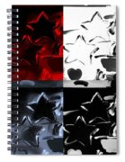 Max Two Stars In Quad Colors Spiral Notebook