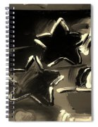 Max Two Stars In Sepia Spiral Notebook