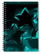 Max Two Stars In Turquois Spiral Notebook