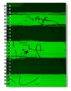 Max Woman In Green Spiral Notebook