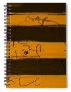 Max Woman In Orange Spiral Notebook